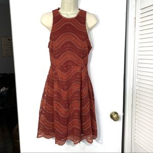 NEW Francesca's orange/red lacy sleeveless…